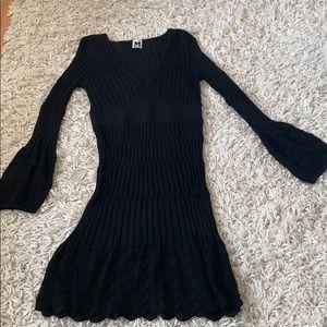 Missoni ribbed long sleeve dress size 38 v neck